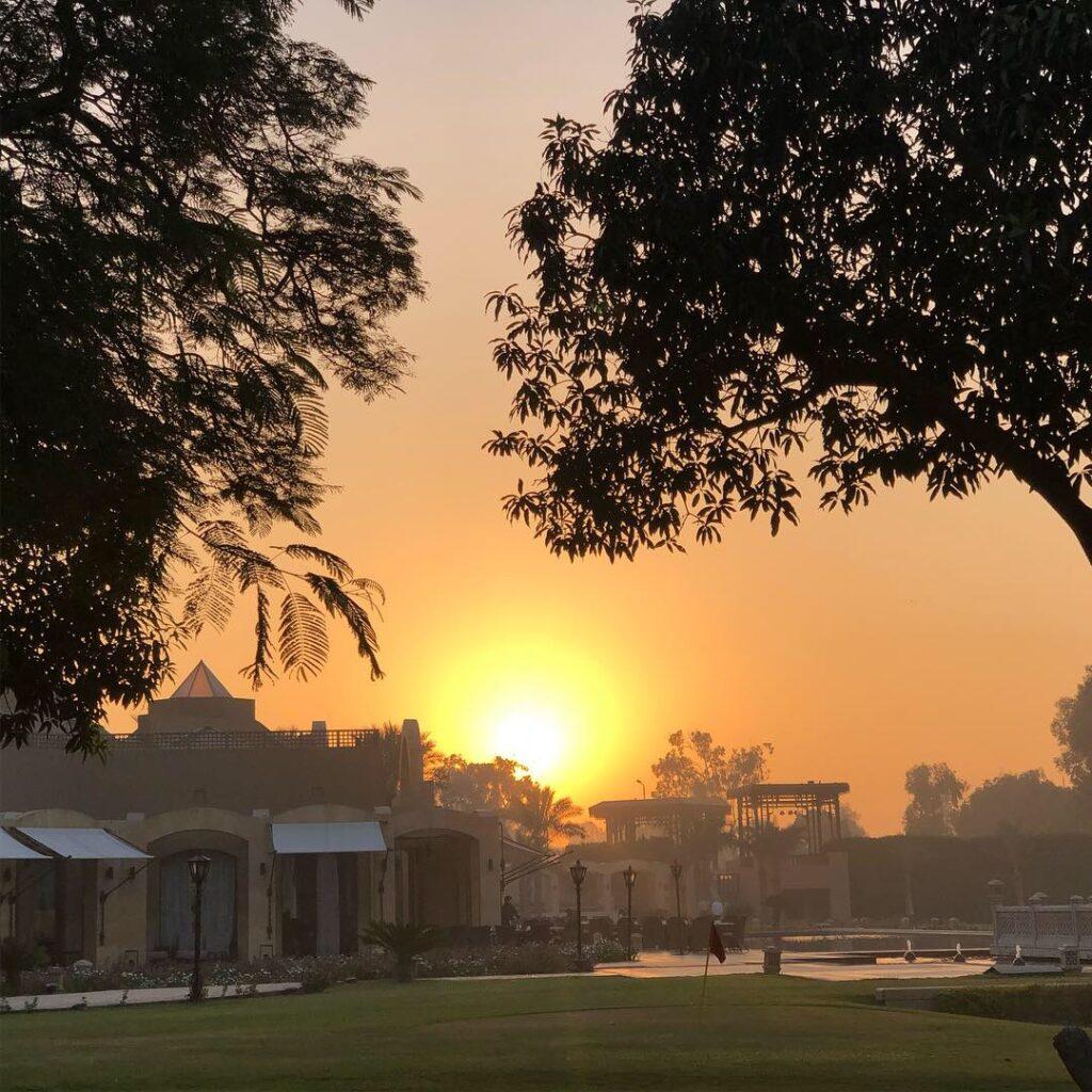 Sonnenaufgang in Giza