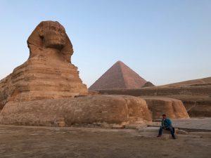 Giza Plateau mit Sphinx