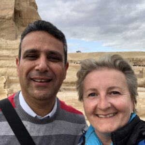 Akram Farouk und Cristina Teot